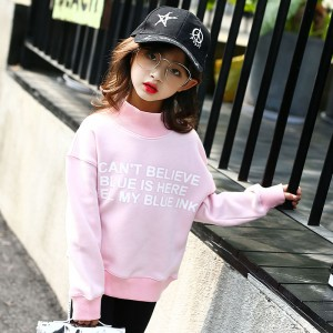 Свитшот для девочки флисовый утепленный Ink, розовый Berni