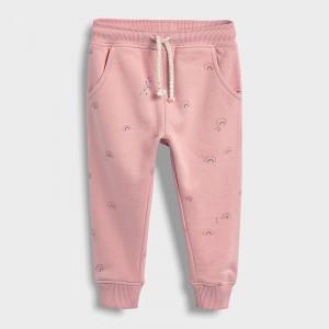 Штаны для девочки утеплённые Радужный узор Little Maven