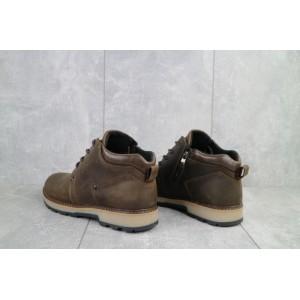Ботинки мужские Yuves 781 коричневые-матовые (натуральная кожа, зима)