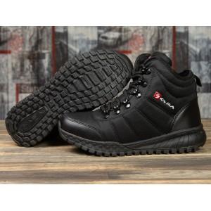 Зимние женские кроссовки 30992, Kajila Fashion Sport, черные ( размер 38 - 24,5см )