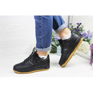 Подростковые,женские кроссовки Nike Lunar Force LF-1,черные