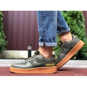 Активные мужские кроссовки Nike Air Force Gore-Tex,темно зеленые