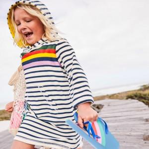 Платье для девочки с капюшоном Цвета радуги Jumping Meters