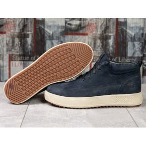 Зимние кроссовки на мехуTimberland, темно-синие (31151) размеры в наличии ► [ 40 (последняя пара) ]