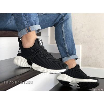 Мужские кроссовки Adidas,текстиль,черно белые