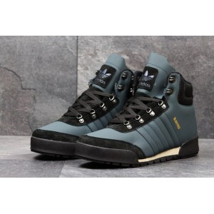 Высокие зимние кроссовки Adidas Blauvelt,темно голубые 45р