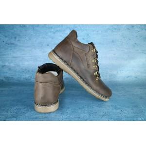 Мужские зимние ботинки Clarcs,коричневые, на меху