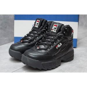 Зимние ботинки на меху FiIа Disruptor 2 High, черные (30191) размеры в наличии ► [ 37 (последняя пара) ]