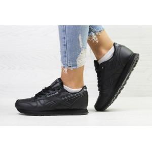 Подростковые демисезонные кроссовки Reebok,черные 40р
