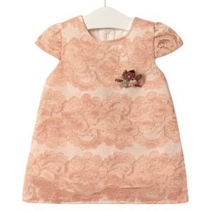 Платье для девочки Элегантность, персиковый Flexi