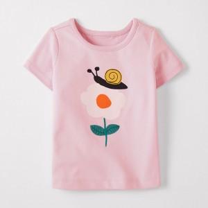 Футболка для девочки Улитка на цветке Little Maven