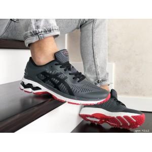 Мужские кроссовки Asics Gel-Kayano 25,сетка,темно серые с красным