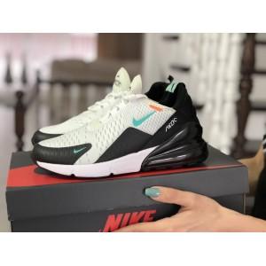 Женские кроссовки Nike Air Max 270,сетка,белые с мятным