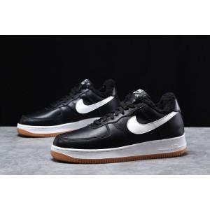 Зимние мужские кроссовки 31733, Nike Air AF1 (мех), черные, [ 41 42 44 ] р. 42-26,5см.
