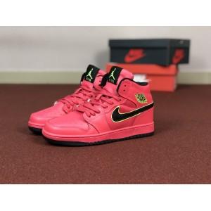 Мужские кроссовки Nike Air Jordan 1 Retro,розовые