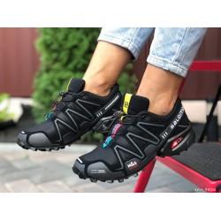Женские, подростковые кроссовки Salomon Speedcross 3,черные,кроссовки для бега
