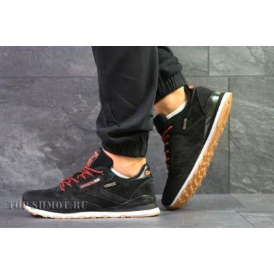 Мужские замшевые кроссовки Reebok Classic черные 44р