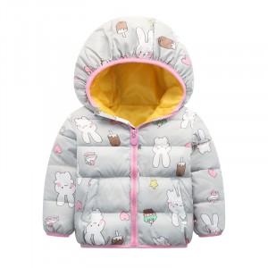 Куртка для девочки Зайчик и сладости, серый Berni