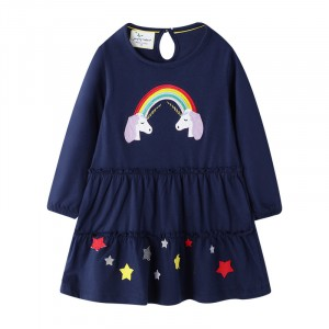 Платье для девочки Rainbow and unicorns Jumping Meters