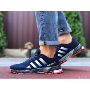 Мужские летние кроссовки Adidas Marathon TR 26,сетка,темно синие
