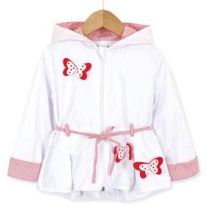 Ветровка для девочки Красные бабочки Baby Rose