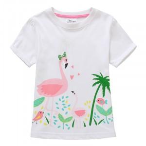 Футболка для девочки Розовый фламинго Jumping Meters
