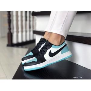 Женские кроссовки Nike Air Jordan 1 Low,белые с мятным