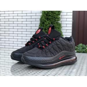 Мужские термо кроссовки Nike air max 720, черные с красным