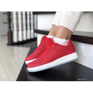 Весенние женские кроссовки Nike Air Force,красные