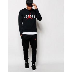 """Мужской черный спортивный костюм Jordan Red Logo """""""" В стиле Jordan """"""""0945"""