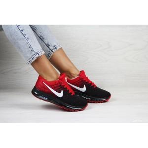Женские кроссовки Nike air max 2017,черные с красным
