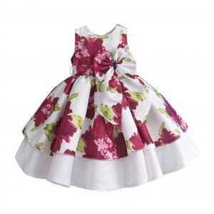 Платье для девочки Пионы, малиновый Zoe Flower
