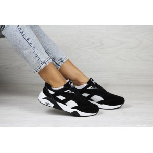 Женские кроссовки Puma Trinomic,замшевые,черно-белые