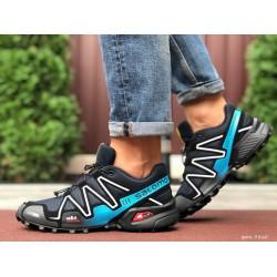 Кроссовки мужские для бега и зала Salomon Speedcross 3,темно синие с голубым