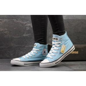 Женские Кеды Converse высокие голубые
