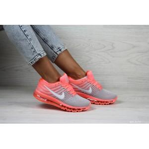 Женские кроссовки Nike air max 2017,розовые с серым