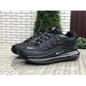 Мужские термо кроссовки Nike air max 720, черные с мятным