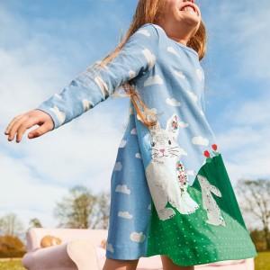 Плаття для дівчинки Hares in the meadow Jumping Meters
