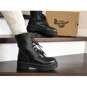 Женские зимние ботинки Dr. Martens,кожаные,черные