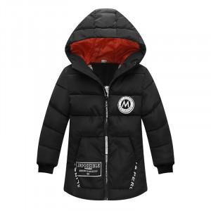 Куртка удлиненная демисезонная детская Лондон, черный Berni