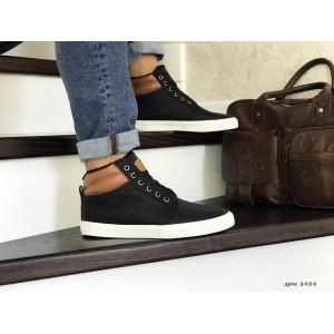 Мужские зимние ботинки кроссовки VINTAGE,черно-белые,на меху