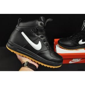 ботинки Nike Lunar Force 1 арт 20667 (зимние, найк, черные)