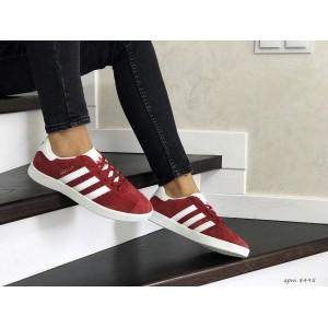 Женские замшевые кроссовки Adidas Gazelle,красные