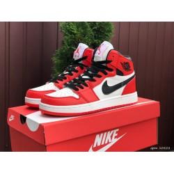 Модные подростковые кроссовки Nike Air Jordan, красные с белым