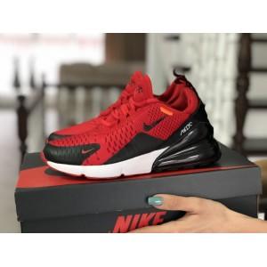 Женские кроссовки Nike Air Max 270,сетка,красные с черным